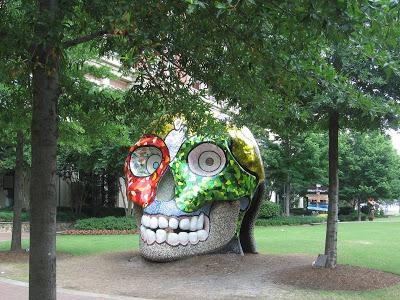 Colorful Skull sculpture by Niki de Saint Phalle