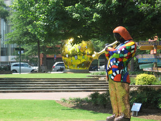 Louis Armstrong sculpture by Niki de Saint Phalle
