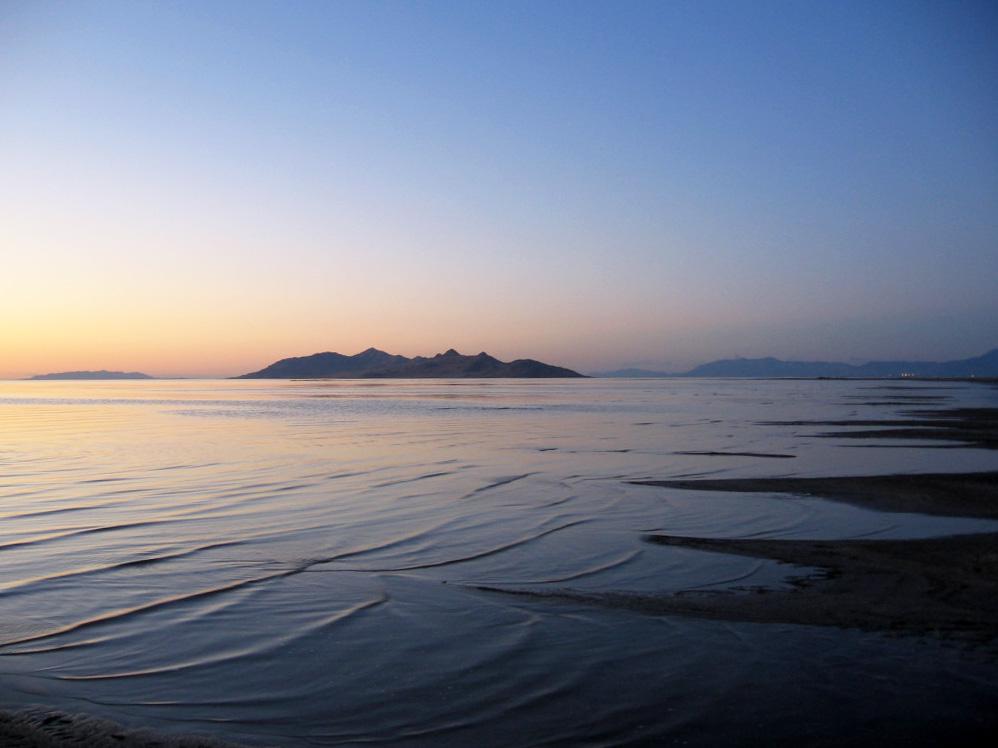 Great Salt Lake at dusk
