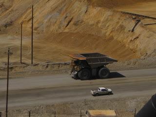 haul truck at copper mine in Utah