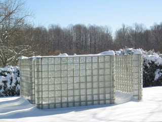 glass brick labyrinth at VCCA