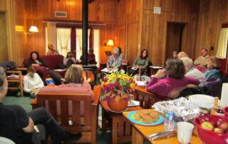 Writers conference in cozy cabin