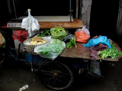green market vendor bike in Shanghai
