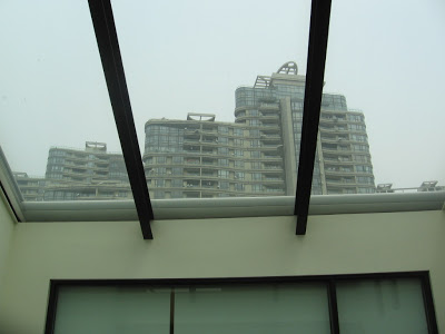 skylight view of high rise apartment buildings in Shanghai