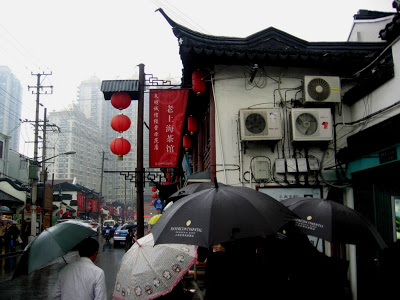 rain in Shanghai Nanshi Market