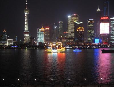Pudong skyline at night