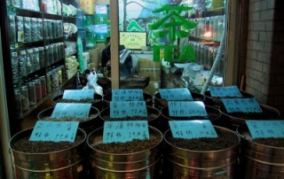tea shop in Shanghai market