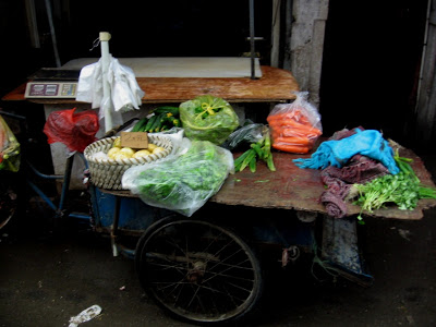Market vendor bike in Shanghai Nanshi