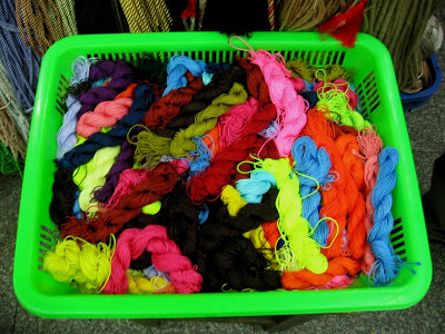 yarn at dry goods market in Shanghai