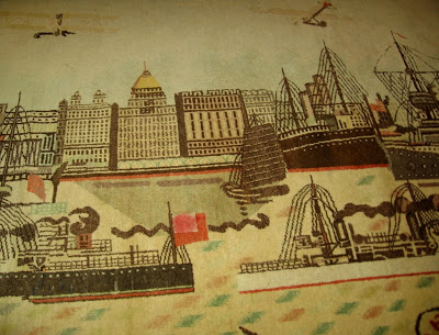 hooked rug with Shanghai Bund