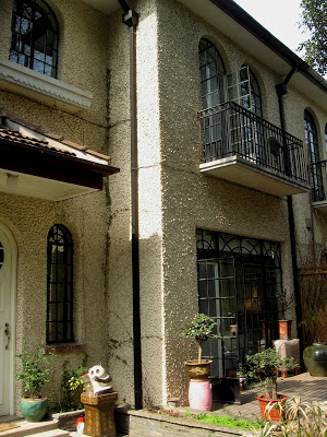 Facade of Spanish Colonial House in Shanghai