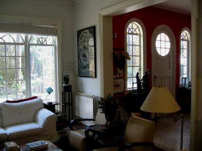 Living room in Spanish Colonial House in Shanghai