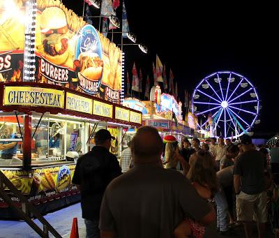purple ferris wheel at county fair