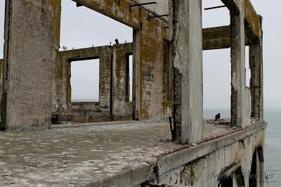 Ruin of officers club at Alcatraz