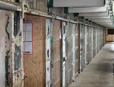 Cell block close up in Alcatraz