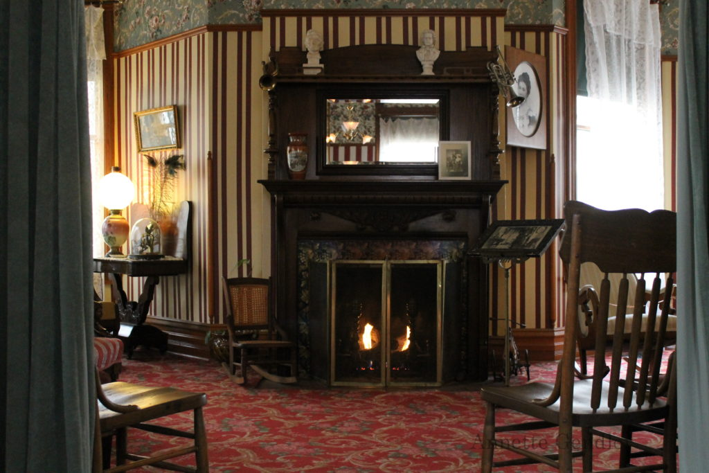 Fireplace in the Hemingway Birthplace Home