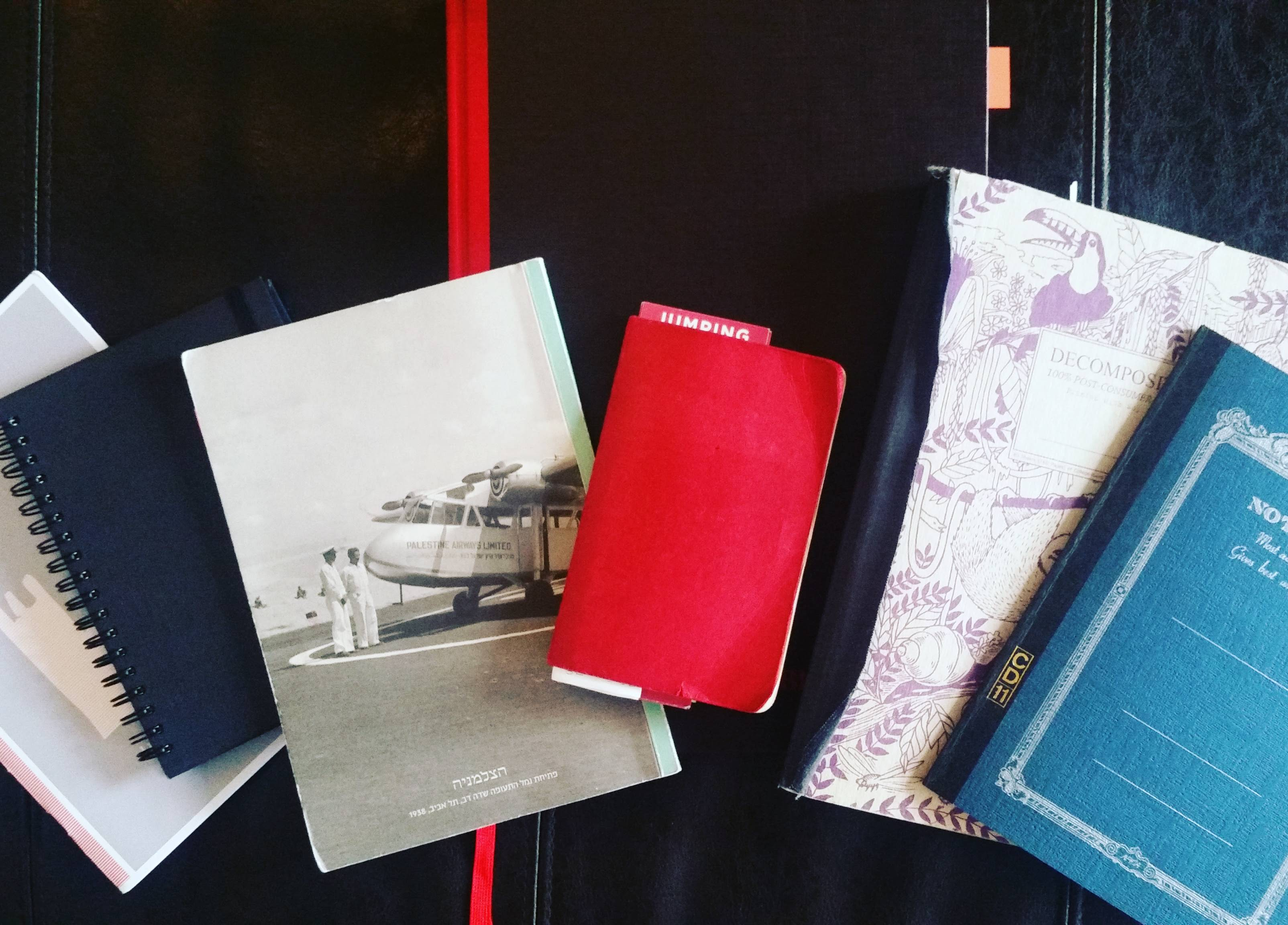 display of notebook collection