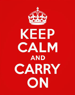 keep calm and carry on poster image
