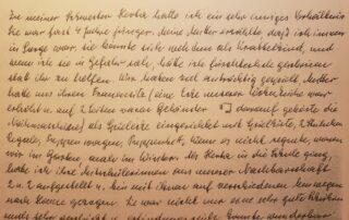 handwritten memoirs in German